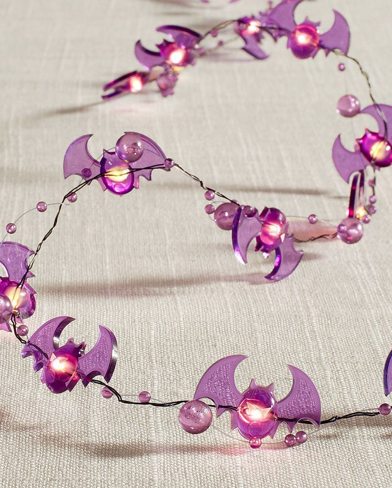 purple bat string lights