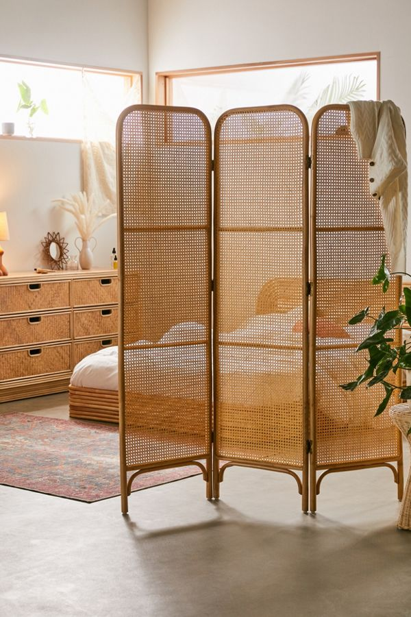 rattan room divider screen by Urban Outfitters