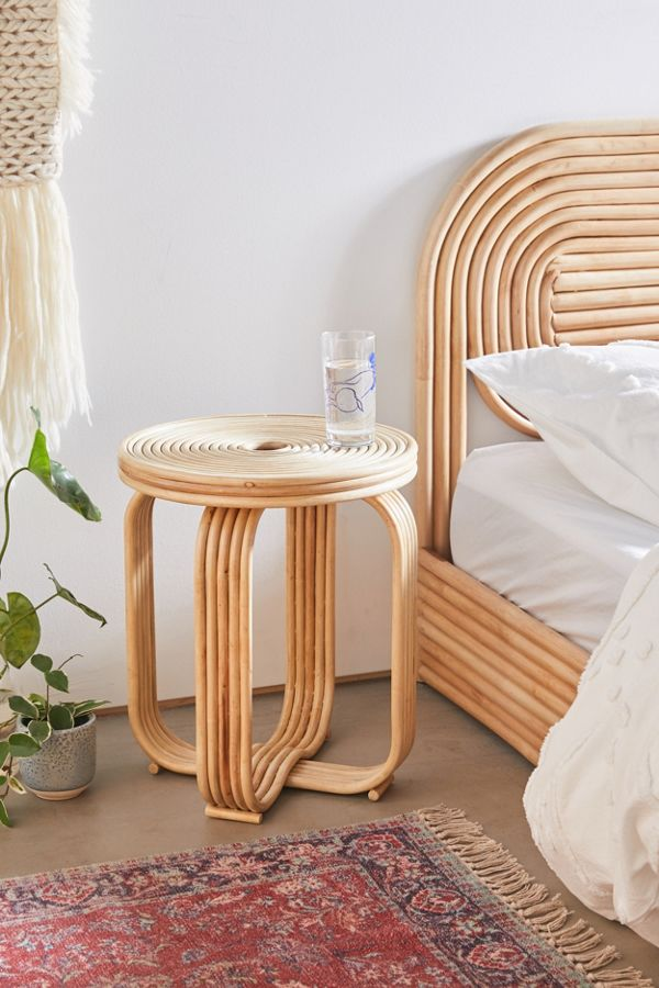 rattan stool by Urban Outfitters