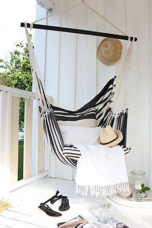 striped hammock for balcony