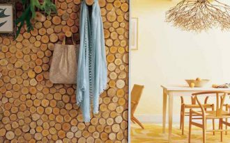 wood disk wall accent