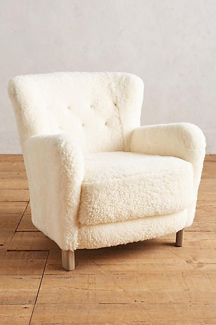 wool armchair by Anthropologie
