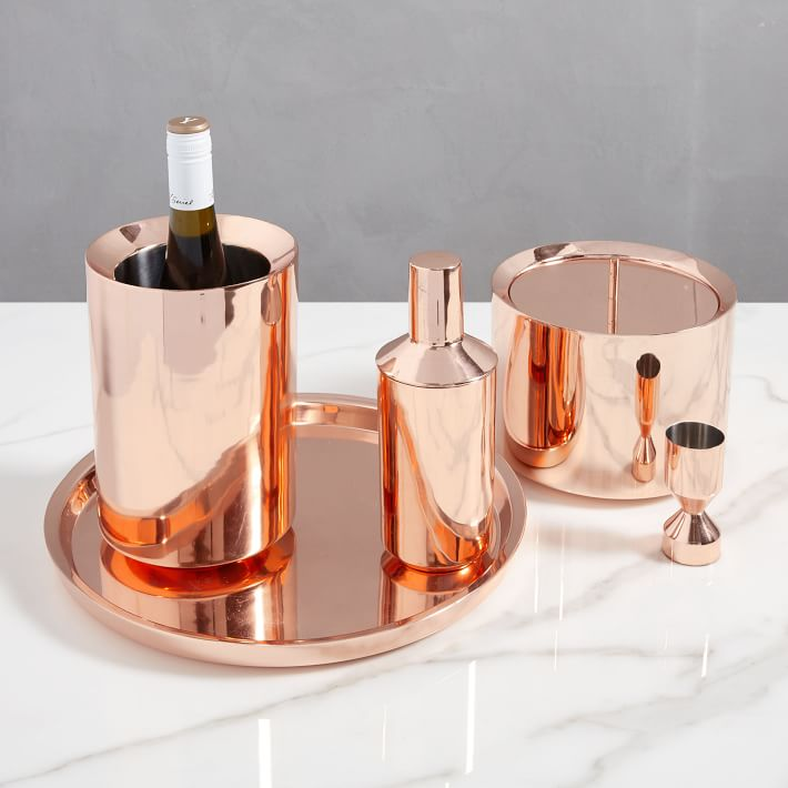 Chelsea barware with gloss copper finish