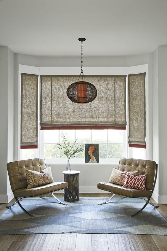bamboo sheet window shutters lantern like pendant x base loveseat with tufted leather upholstery some throw pillows
