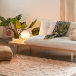 Chic Boho Area Rug With Fluffy Embroidered Patterns And Fringed Trims In Base Edges