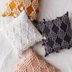 Colorful Boho Throw Pillows With Tufted Dot Accents