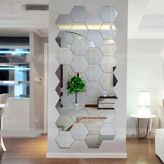 hexagon 3D wall sticker idea