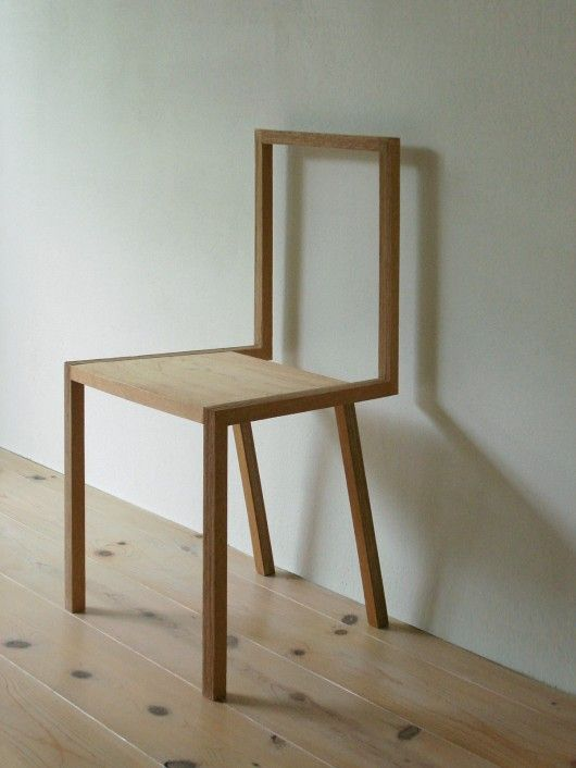 organic wood chair in ultra modern style