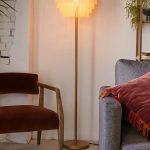 Bohemian Floor Lamp With Macrame Lampshade