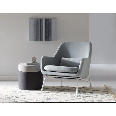 MoDRN Sandpiper upholstered lounge chair in stone gray by Walmart