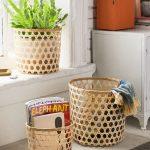 Bamboo Nesting Basket Made Of Interwoven Bamboo Strands