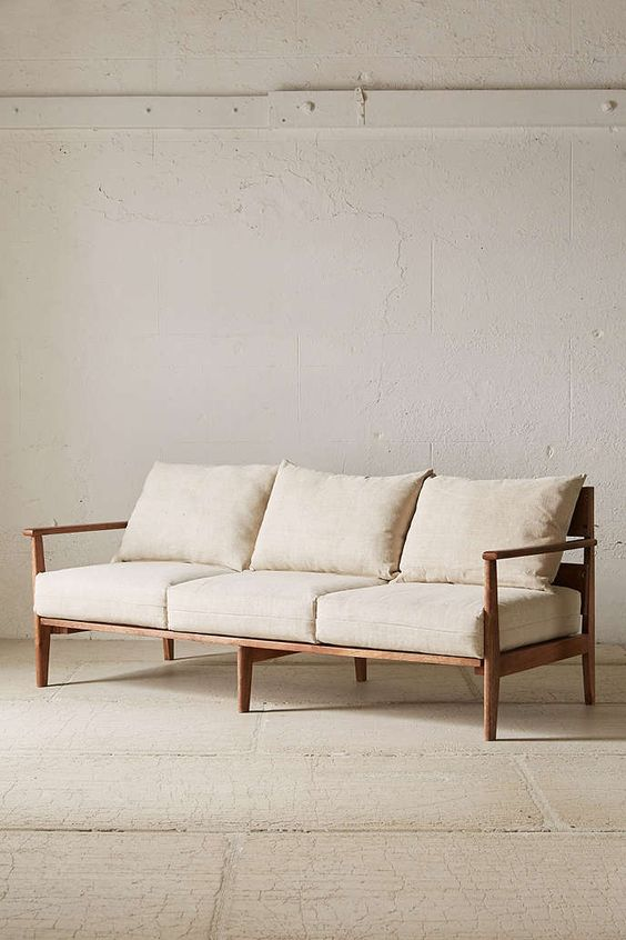 midcentury modern sofa by Urban Outfitters