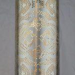 Modern Moroccan Pendant With Cylinder Shape Minimalist Motifs Silver Finish