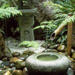 Natural Stone Bowl Bamboo Fountain A Pile Of Natural Stones