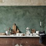 Raw Wall Color Idea Shabby Metal Counter With Marble Top Shabby Wood Plank Floors
