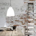Revealed Bricks Wall Style With Whitewashed Finish