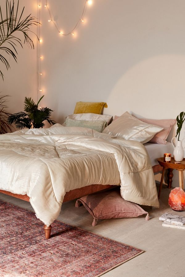silver comforter by Urban Outfitters
