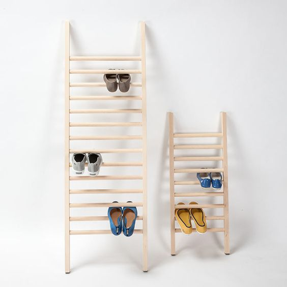 simple wood ladders for shoes