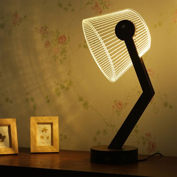ultra modern night lamp with LED lampshade
