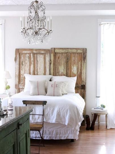 bed frame with full height wooden headboard white bedding idea