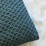 Crochet Throw Pillow In Deep Blue