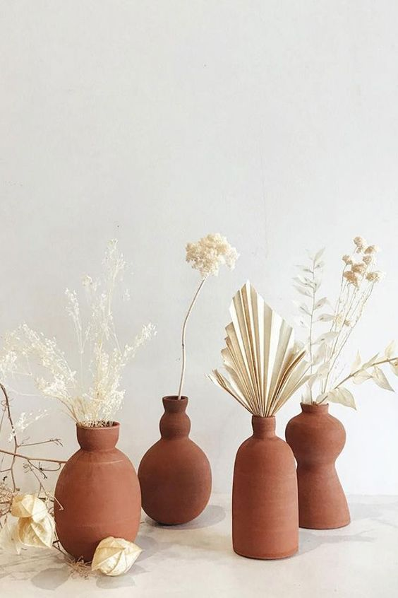 decorative terracotta vases for decorative flowers