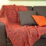 Earth Colored Crochet Throw Blanket