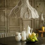 Old School Pendant Lamp With Gray Wool Knitting Lampshade Cover