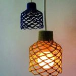 Pendant Lamps With Wool Knitting Lampshade