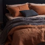 Perfect Combination Of Bold Blue Blush Pink And Terracotta For Bedding Treatment