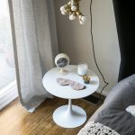 Round Top Side Table In White