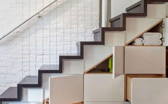 amazing storage solution under the stairs