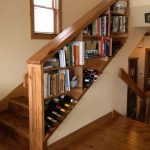 Clever Stair Storage Idea Behind The Stairs' Railing System