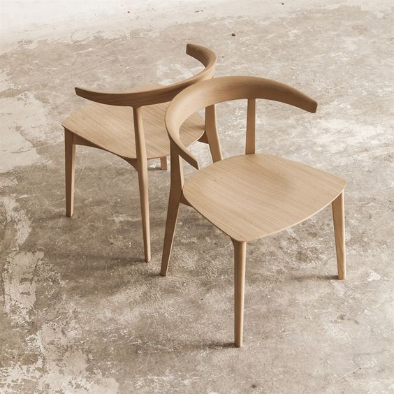 contemporary lounge chairs made of solid wood