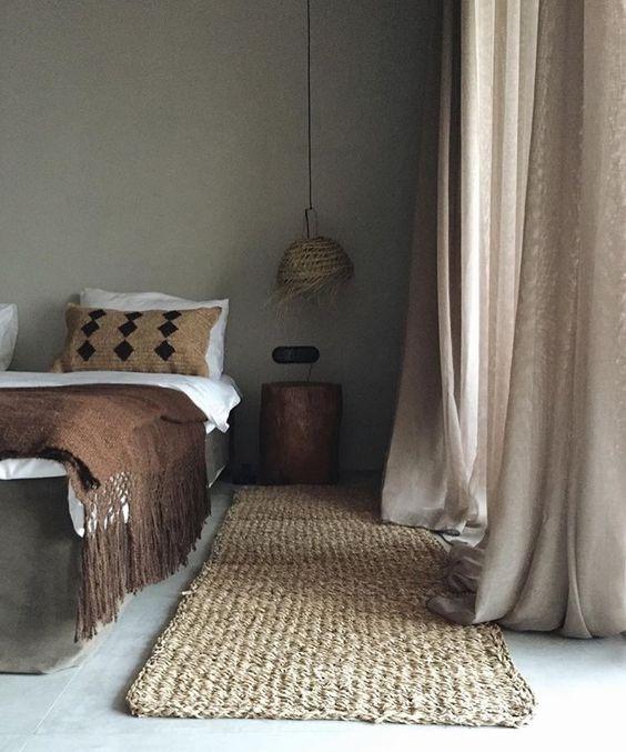dark brown throw blanket with fringed tassels woven runner dramatic fallen draperies in beige