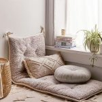 Floor Cushion With Wool Suface Throw Pillows