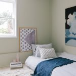 White Bed Linen Deep Blue Throw Blanket With Tassels Crochet Pillows In White Textured Fluffy Area Rug In White