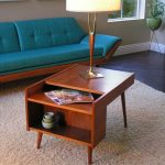 Midcentury Modern End Table With Open Shelves