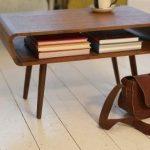 Midcentury Modern Vintage Coffee Table In Dark Wood Color