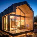 Minimalist Tiny House With Full Clear Glass Windows And Door
