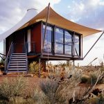 Square Box Desert Home With Wings