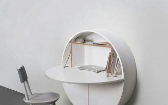 Pill Wall Desk in white
