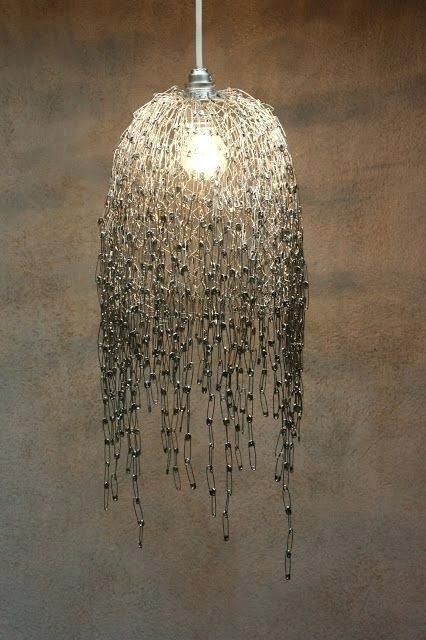 chicken wire chandelier inspired by wooden chicken coop