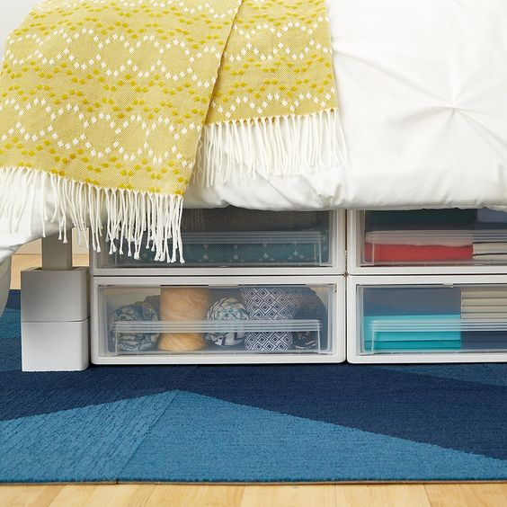 clear visibility drawers under bed