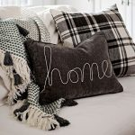 Gray Velvet Accent Pillow With Rope Ornaments