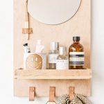 Mirror Storage Idea With Light Wood Backdrop