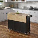 Movable Kitchen Island As Well With Folding Wood Top And Storage