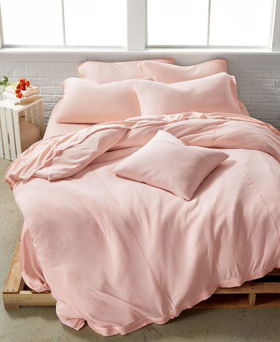 pretty pink bed linens for super soft touch low height wooden bed frame