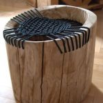Recycled Wood Side Chair With Center Net Addition