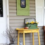 Small Veranda Idea Yellow Table For Housplant Suitcase Planter For Houseplant